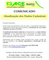 ATUALIZAÇÃO DOS DADOS CADASTRAIS