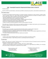 Associação Comercial e Empresarial de Ibiúna contra o Covid-19