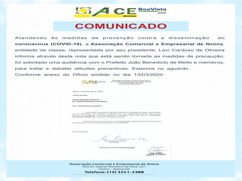 COMUNICADO AOS COMERCIANTES
