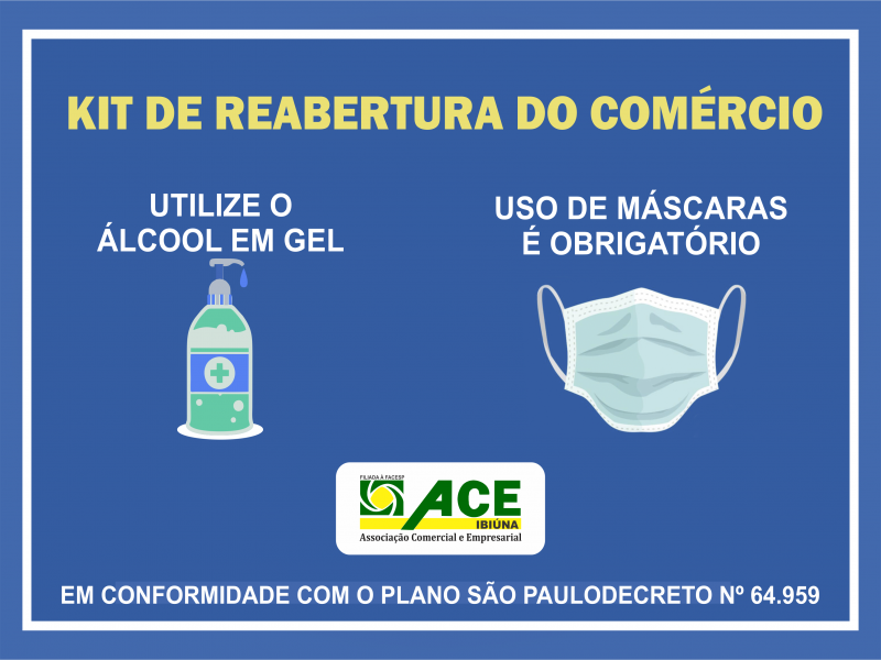 KIT DE REABERTURA DO COMÉRCIO